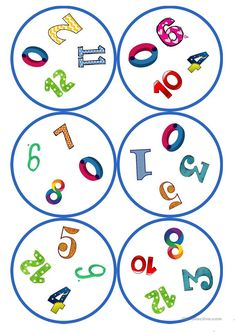 Games in German lessons: Dobble - numbers cards / 4 symbols) - - Activity Games For Kids, Learning Games For Kids, Math For Kids, Montessori Activities, Kindergarten Activities, Diy Game, English Activities, Classroom Fun, Toddler Preschool