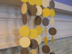 Paper Garland 10ft Wedding Decorations Yellow and Gray Bridal Shower Decor Baby Shower Decor Photo Prop Custom colors Available. $12.00, via Etsy.