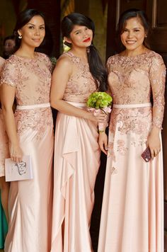 Left Gown idea for mama Lace Bridal Gown And Entourage By Camille Co Wedding Entourage Gowns, Wedding Gowns, Lace Bridesmaids, Bridesmaid Dresses, Bridal Lace, Bridal Gowns, Camille Co, Grey Gown, Girly Girl