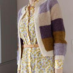 Wrap me up cardigan - en feminin strik, der passer til det meste - Mor med mere Sorbet, Purple Cardigan, Jumpers, Knitwear, Cardigans, Sweaters, Arts And Crafts, Vest, Style Inspiration