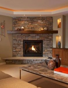 Hottest Photos Fireplace Remodel modern Thoughts If your room has a fireplace, it is typically the focal point of the room. Update the fireplace with … Living Room with fireplace Living Room Decor Fireplace, Basement Fireplace, Living Room Decor Colors, Fireplace Remodel, Cozy Living Rooms, Fireplace Design, Home Living Room, Living Room Designs, Fireplace Ideas