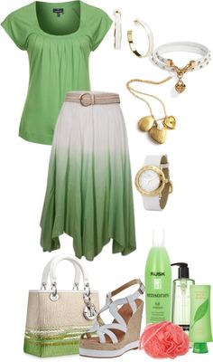 """Green Tea"" by damussel on Polyvore"