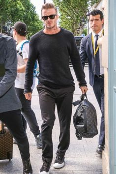 David Beckham wearing Ray-Ban Classic Wayfarer Sunglasses