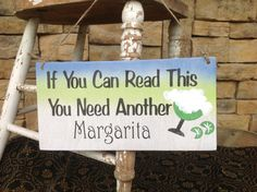 Bar sign margarita sign funny sign Margaritaville by KerriArt