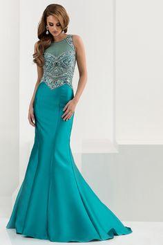 2016 Prom Dresses Scoop Mermaid Satin With Beading Sweep Train US$ 189.99 BPP4QKE27S - BrandPromDresses.com