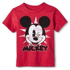 Disney® Mickey Mouse Infant Toddler Boys' Short Sleeve Tee - Red