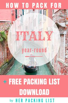 <3 Italy. This packing list is spot on!
