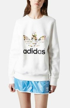 Crushing on this Topshop x adidas originals trefoil sweatshirt