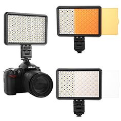 pangshi Dimmable LED Video Light Lamp Panel with 192 LED BulbsWhite LightWarm Light 32005600K 115W for Nikon Canon Panasonic Olympus Digital SLR Cameras or Camcorder >>> You can get more details by clicking on the image.