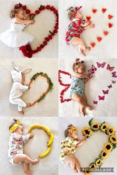 Monthly Baby Photos, Newborn Baby Photos, Baby Poses, Baby Girl Photos, Newborn Pictures, Baby Girl Newborn, Baby Pictures, Bebe Love, Foto Baby