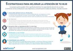 #Infografia 5 estrategias para mejorar la atención de tu hijo via @aulaPlaneta