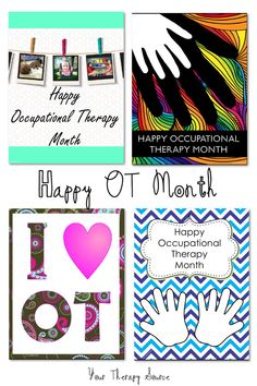 Happy OT Month - 10 Things to Do To Celebrate OT Month in April www.YourTherapySource.com/blog1