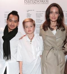angelina jolie steps out with kids shiloh pax and zahara