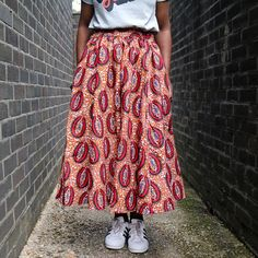 cfaf85109ffa37 Cowrie Midi Skirt. Cowrie Midi Skirt – Kemi Telford