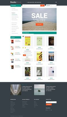 Books Online Store #Magento #template. #themes #business #responsive #webshop