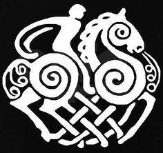 Sleipner Decals Set of 2 Choose Color Sleipnir Odin Thor asatru Viking Norse | eBay