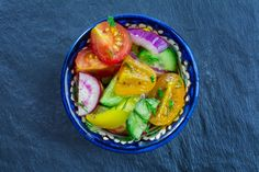 A beautiful side salad that adds a pop of color and nutrients to your meal.
