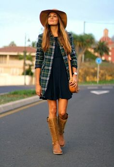 Amazing style for woman. #winter #boots #drees #fashion