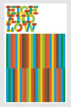 Typographic poster design by Skinny Ships