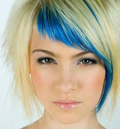 Blue and blonde = WOULD SOOO DO THIS IF I WERE 20 YRS YOUNGER!