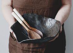 Ceramic Serving Bowl Ceramic Salad Bowl Fruit Bowl by TaygaHOME #etsylatvia