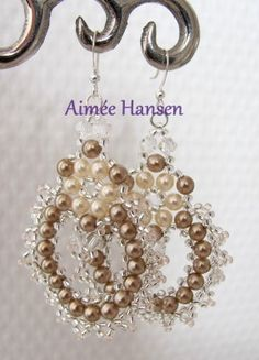 Beaded earrings, tutorial not in En but with very good pictures