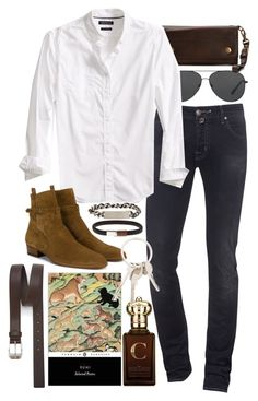 """""""Inspired by Harry Styles."""" by nikka-phillips ❤ liked on Polyvore featuring Michael Kors, Frye, Jacob Cohёn, Banana Republic, Yves Saint Laurent, Werkstatt:München, Clive Christian, Givenchy, Paul Smith and men's fashion"""