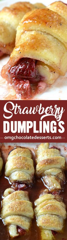 If you share my love for anything made with strawberries, then these strawberry dumplings are exactly what you need to try.If you share my love for anything made with strawberries, then these strawberry dumplings are exactly what you need to try. Easy Strawberry Desserts, Easy Desserts, Delicious Desserts, Yummy Food, Asian Desserts, Alcoholic Desserts, Apple Desserts, Mini Desserts, Cobbler
