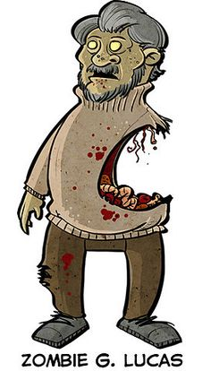 zombify (Zombie George Lucas (via Official Star Wars Blog))