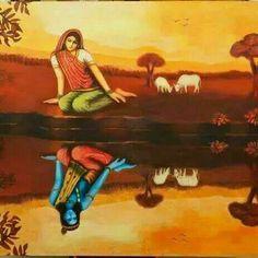 Radha and Krishna Hindu Art, Krishna Art, Indian Paintings