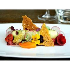 Feb 2015. Food from relief chef work in Staffordshire uk. Goats cheese mousse wrapped in cucumber Parmesan crisp beetroot. Cherry tomatoes shallot raddish edible flowers #food #enjoy #Finedining #fourmagazine #chefsroll #chefslife #british #staffcanteen #gastroart #cucumber #goatscheese #theartofplating #parmesan #chefs by rogersbros