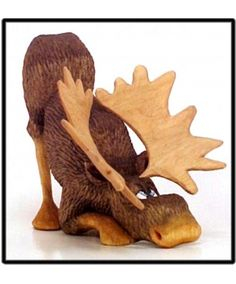 Steve Brown Woodcarving - Morton Moose is a 5 1/2 inch basswood roughout.