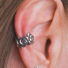 Rose ear cuff.