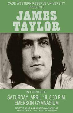 James Taylor 1970 Cleveland Concert Poster
