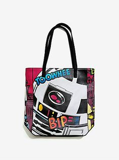 Loungefly Star Wars R2-D2 Comic Tote,