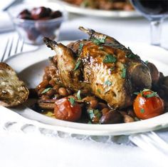 Partridge packs plenty of game flavour for its size and is perfect matched with these robust flavours, from BBC Good Food. Wild Game Recipes, Bbc Good Food Recipes, Meat Recipes, Wine Recipes, Cooking Recipes, Quail Recipes, Savoury Recipes, Partridge Recipe