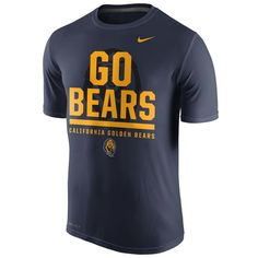 Highlight your Cal Bears fandom with this Legend Local Verbiage T-shirt from Nike! California Golden Bears, Spirit Wear, Bear T Shirt, Nike Outfits, Nike Men, Long Sleeve Shirts, Navy, Fitness, How To Wear