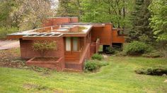 Affleck House in MI_Frank Lloyd Wright_Side