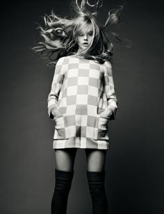 Swinging Sixties Style x  Cool pose, hair blowing around - movement added to photo.