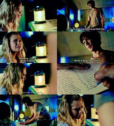 """#The100 4x03 """"The Four Horseman"""" - Clarke and Bellamy"""