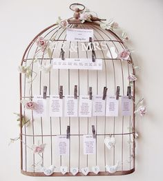 Ma déco passe à table...: Inspiration cages à oiseau