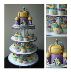 Stephanie's Jasmine Cupcake Tower