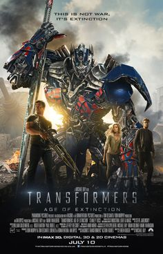 New Poster for Transformers: Age of Extinction - More Sword... - Pissed Off Geek