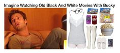 """""""Imagine Watching Old Back And White Movies With Bucky"""" by alyssaclair-winchester ❤ liked on Polyvore featuring Sebastian Professional, Hunkemöller, Peony & Moss, GANT, Larke, Waring, imagine, Avengers, marvel and buckybarnes"""