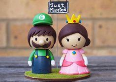 muñecos para pastel de luigi y la princesa