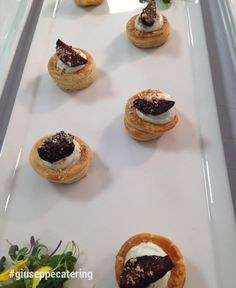 Port Poached Mission Figs on a Flaky Pastry with Point Reyes Blue Cheese
