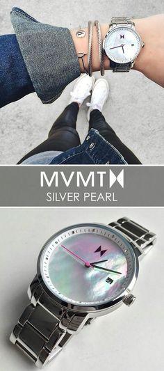 Silver Pearl Women's MVMT watch • coupon code: http://share-mvmtwatches.com/x/XhzzFu
