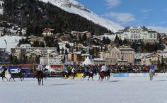 The St. Moritz Polo World Cup on Snow on the frozen surface of Lake St. Moritz is the world's most prestigious winter polo tournament. A truly unique polo field. Polo Grounds, Moritz, The St, World Cup, Winter, Fields, To Go, Around The Worlds, Street View