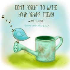 Like a plant needs water & sunshine - so do we need nurturing to reach our #goals! #Inspiration #BeGoodToYou