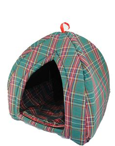 "TOPOT 17.5"" Green Gingham Pet Bed House >>> More info could be found at the image url. (This is an affiliate link and I receive a commission for the sales)"